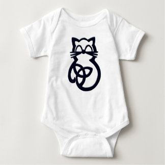 Black Trinity Knot Celtic Cat Baby One Piece Baby Bodysuit