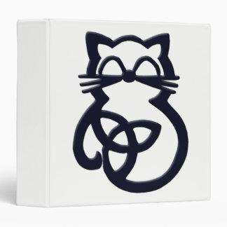 Black Trinity Knot Celtic Cat Binder