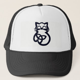 Black Trinity Knot Celtic Cat Hat