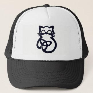 Black Trinity Knot Celtic Cat Hat