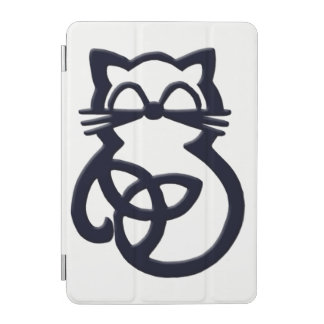 Black Trinity Knot Celtic Cat iPad Mini Cover