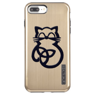 Black Trinity Knot Celtic Cat  iPhone 7  Case