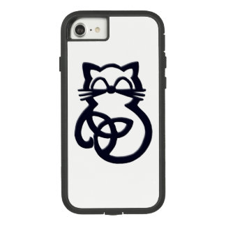 Black Trinity Knot Celtic Cat  iPhone 8/7 Case
