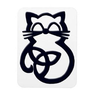 Black Trinity Knot Celtic Cat Magnet