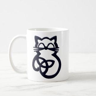 Black Trinity Knot Celtic Cat Mug