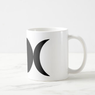 Black Triple Moon Mug by the Cheeky Witch