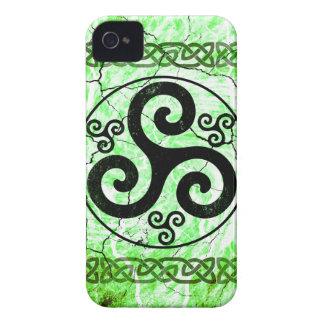 Black Triskellion Case-Mate iPhone 4 Case