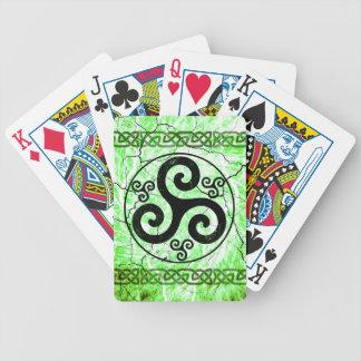 Black Triskellion Poker Deck