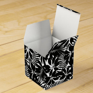 Black tropical favor box