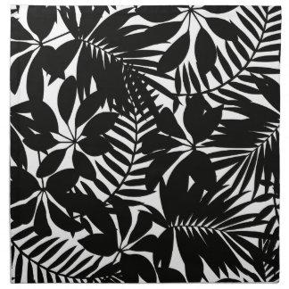 Black tropical napkin