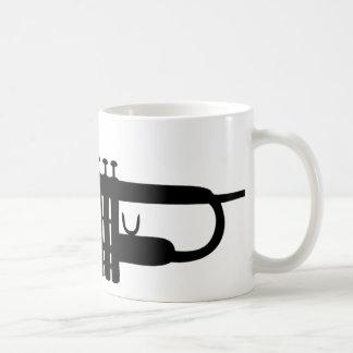 black trumpet icon coffee mug
