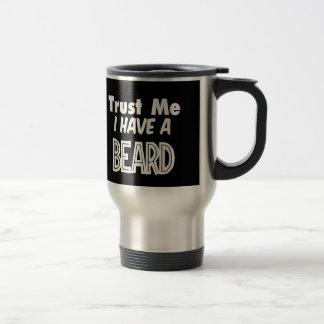 Black trust me I have a beard travel mug