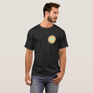 Black tshirt with rangoli