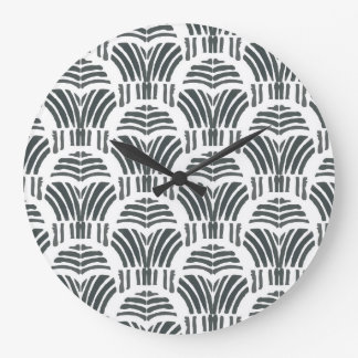 Black tulips large clock
