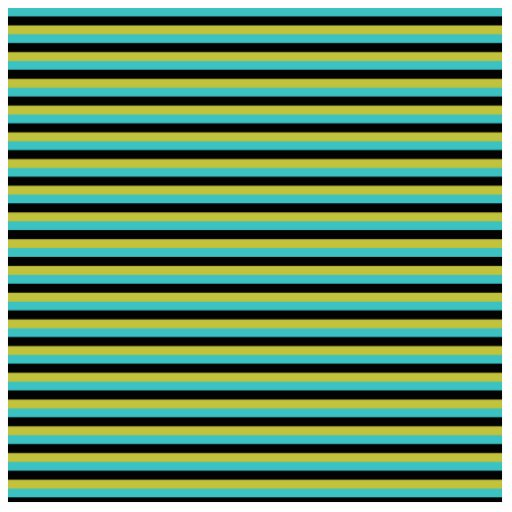 Black, Turquoise and Yellow Stripes. Cut Outs