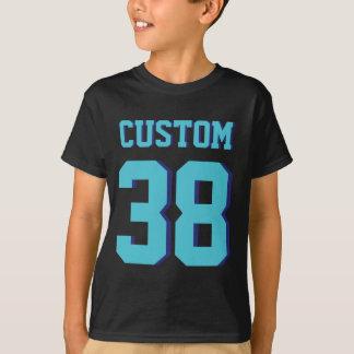 Black & Turquoise Kids | Sports Jersey Design T-Shirt