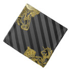 Black Tux Gold Lion Monogram Emblem Lapel Pocket Bandana