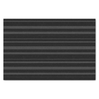 Black Tuxedo Charcoal Grey Double Stripe Tissue Paper