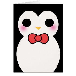 Black Tuxedo Penguin Card
