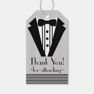 Black Tuxedo Thank You- Gift Tags