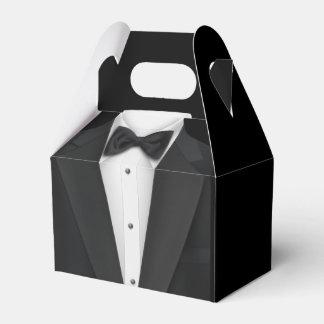 Black Tuxedo Wedding Favor Boxes