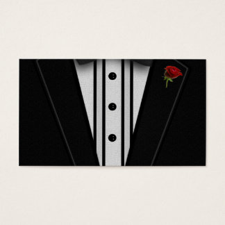 Black Tuxedo with Bow Tie Business Card