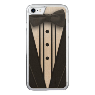 Black Tuxedo with Bow Tie Carved iPhone 8/7 Case