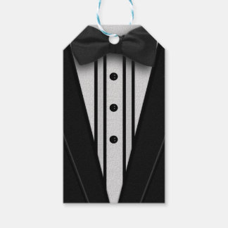 Black Tuxedo with Bow Tie Pack Of Gift Tags