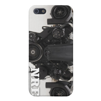 Black Twin Turbo Engine iPhone 5 Covers