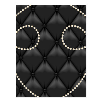 Black Uholstery Pearls Elegant Post Card