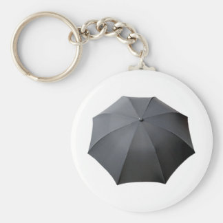 Black Umbrella Isolated Over White Background Keychain