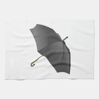 Black Umbrella Kitchen Towel