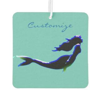black underwater mermaid customized air freshener