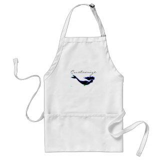black underwater mermaid customized standard apron