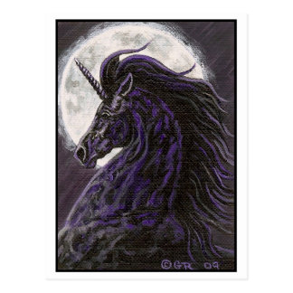 Black Unicorn 2 Art Postcard