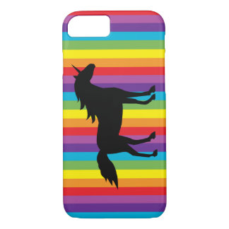 Black Unicorn and Rainbow iPhone 7 Case