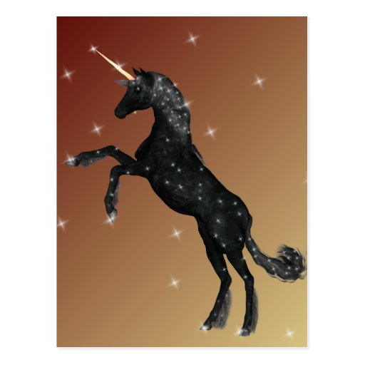 Black Unicorn Postcard