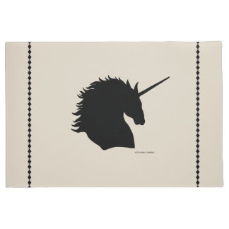 """Black Unicorn Sigil"" Sand Door Mat"