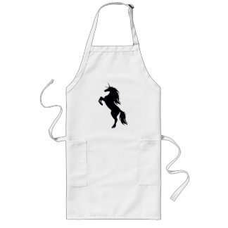 Black Unicorn Silhouette Apron