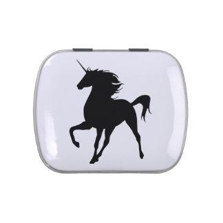 Black Unicorn Silhouette Candy Tin