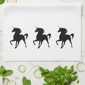 Black Unicorn Silhouette Kitchen Towel