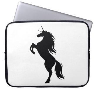 Black Unicorn Silhouette Laptop Sleeve
