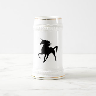 Black Unicorn Silhouette Stein