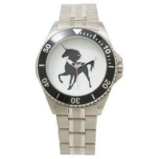Black Unicorn Silhouette Watch