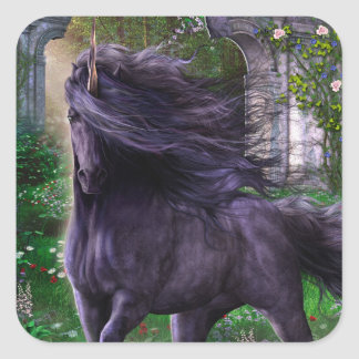 Black Unicorn Sticker