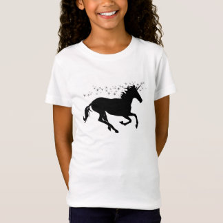 Black Unicorn with Magical Stars T-Shirt