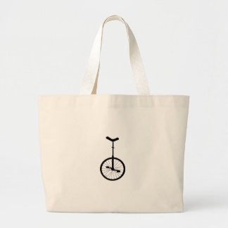 Black Unicycle Canvas Bags