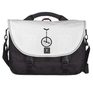Black Unicycle Laptop Commuter Bag