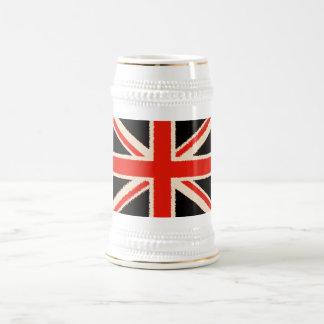 Black Union Jack (kind styles) Beer Stein