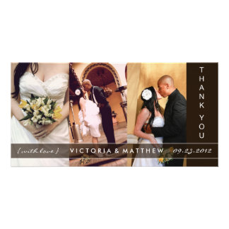 BLACK UNION | WEDDING THANK YOU CARD PERSONALIZED PHOTO CARD